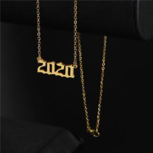 Birth Year Necklaces For Women Men Year Necklace Collier Femme bff 1970 To 2020 Date Necklaces & Pendants