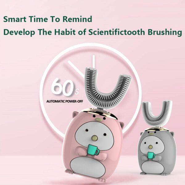 360 Degrees Smart Automatic Sonic U Shape Electronic Toothbrush USB Rechargeable